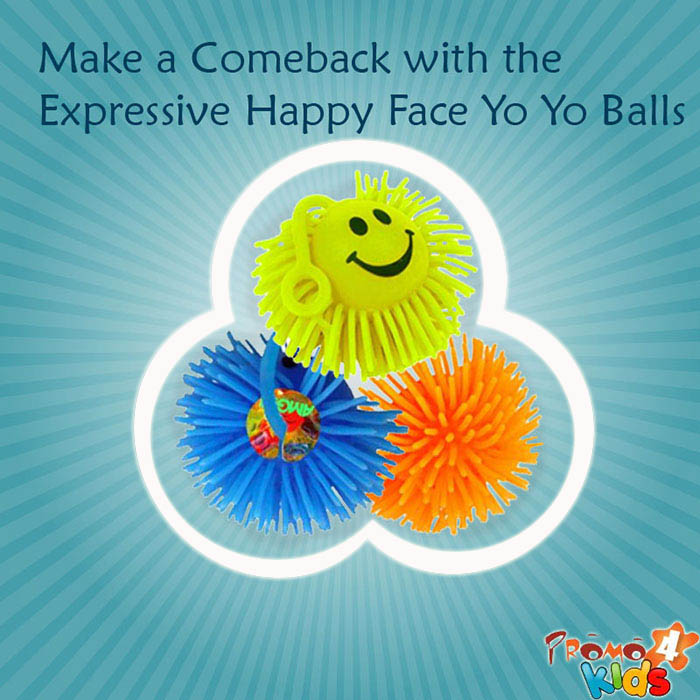 Make a Comeback with the Expressive Happy Face Yo Yo Balls