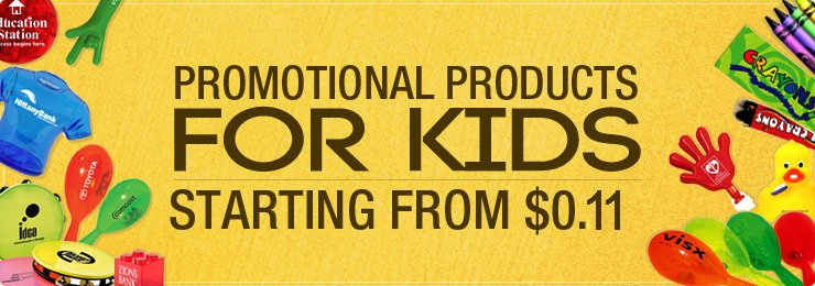 Promotional Produtcts For Kids